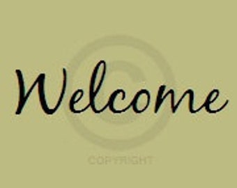 Welcome - Vinyl Wall Art