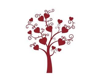 Heart Tree - Vinyl Wall Art
