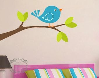 Cute Bird on Branch