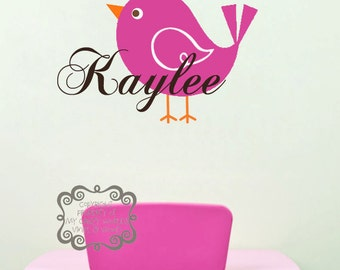 Personalized name with bird