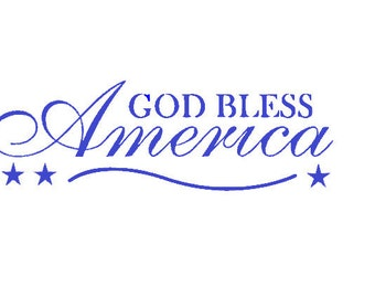 God Bless America - Vinyl Wall Art