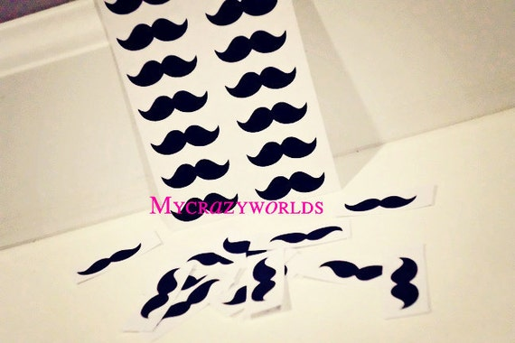 Temporary Tattoo Mustaches - Pack of 20
