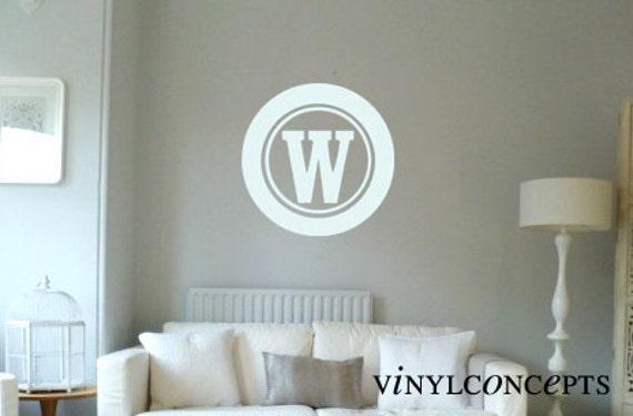 Circle Monogram - Vinyl Wall Art