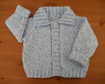 Baby boy's blue cardigan for ages approx 0 - 3 months