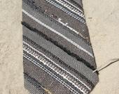 Handwoven linen necktie