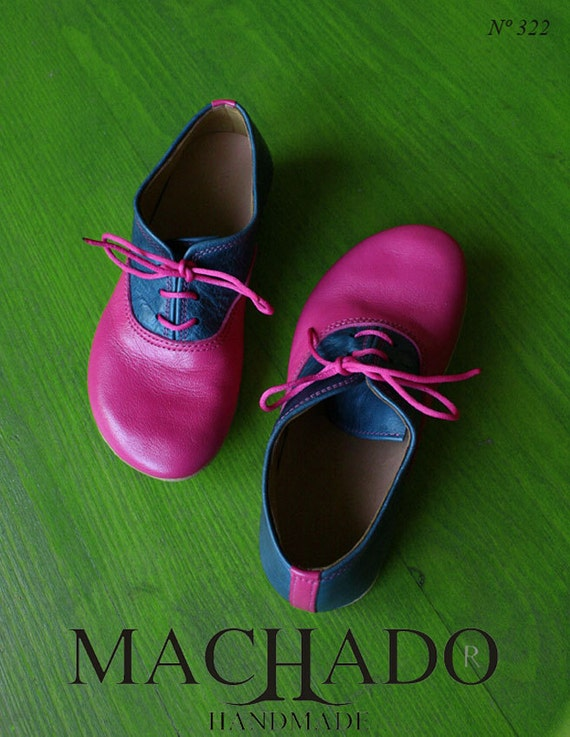 MACHADO SHOES/ unique Oxford shoes, made with a very soft leather... SOLED shoes