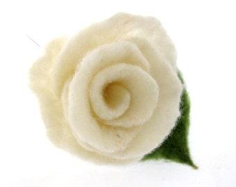 Felt  Rose... Flower Brooch