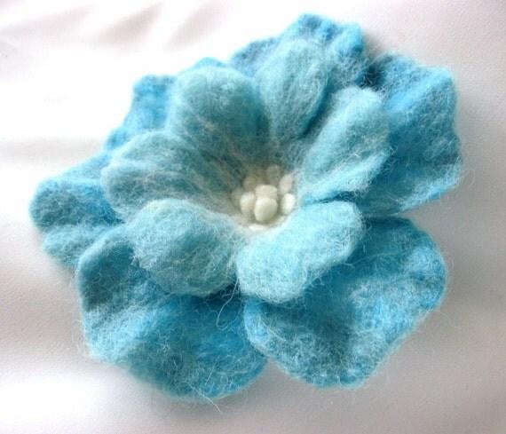 AQUA...Flower Brooch