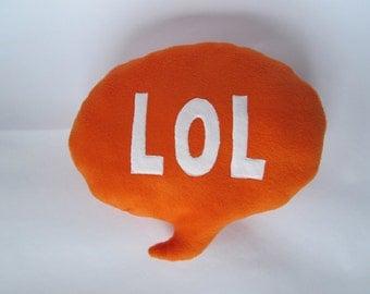 LOL Speech Bubble Cushion