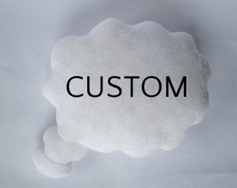 Custom Thought Bubble Cushion - Choose your own colour and text