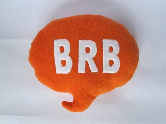 BRB Speech Bubble Cushion