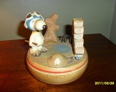 Music Box by ANRI Wooden Snoopy Sold to Greg