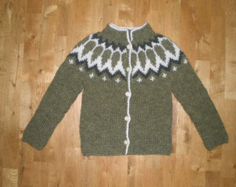Icelandic sweater for kids/children with buttons, size for 8 years old READY TO SHIP