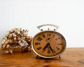 vintage french alarm clock made by JAPY, in good working order.