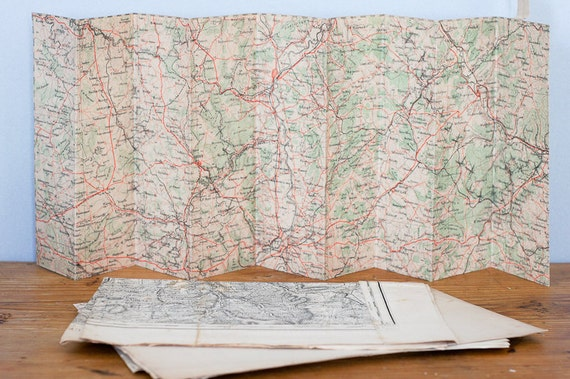 RESERVED  french military maps from WW1, war memorabilia, ephemera or for altered art projects, set of 3
