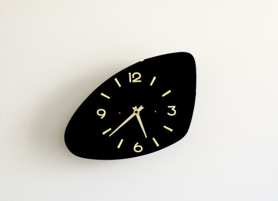 vintage french wall clock from the 60's mid century modern
