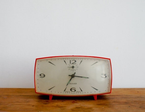 vintage alarm clock from the 60's, made in France by BAYARD