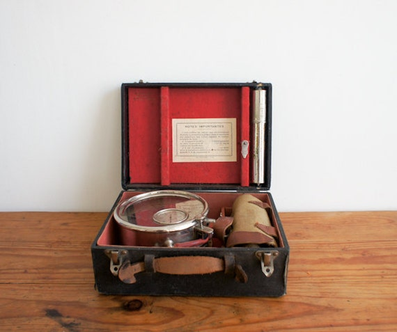 antique french medical instrument for measuring blood pressure