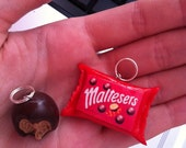 Maltesers necklace, Candy, chocolate, sweets, miniature food, polymer clay, charm.