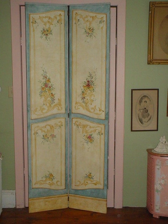 Beautiful Wood Paneled Rooms: RESERVED SALE Dressing Room Screen Room Divider Shabby Chic