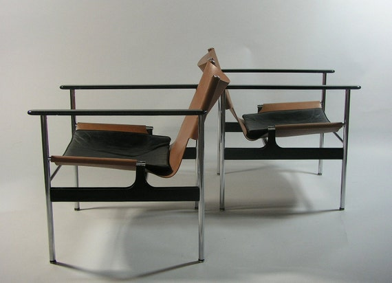 1 Mid-Century 1960 Charles Pollock Sling Lounge Chair Model 657 for Knoll International / Eames Era Mad Men Vintage 50s 60s RARE