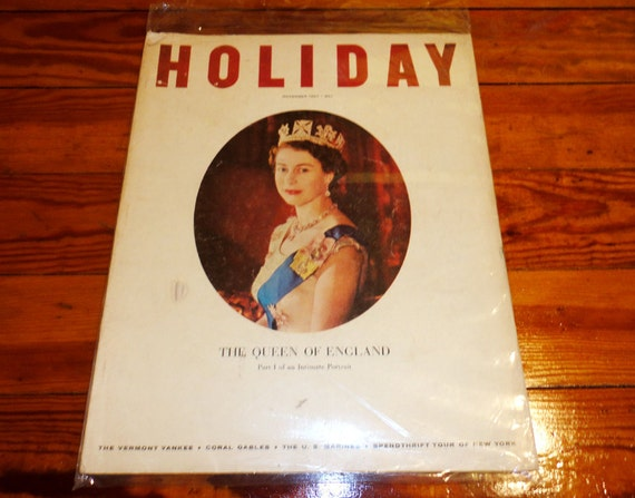 Complete Magazine Vintage Large HOLIDAY Magazine Queen of England Nov November 1967 Mid-Century Modern 1950's 1960's World Travel Vacation