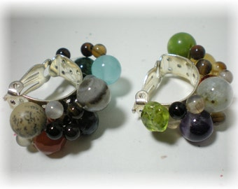 Signature Gemstones of Jerusalem Clip On Earrings
