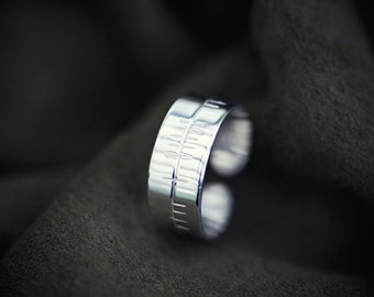 Silver Ogham Toe Ring for SILVER FIR Tree Sign December 23rd