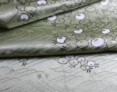 Japanese Fabric, Kimono Silk, Green Silk