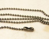 Gunmetal Ball Chain Necklace 18 Inch Gray Dark Silver Necklace Chain