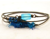 Blue Bracelet - Turquoise Aqua Stacked Bangle Bracelets Stackable Jewelry