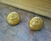 Vintage California Street Cable Rail Road Company coat buttons made into Cufflinks