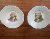 Limited Edition Bristol Pottery President porcelain plates Thomas Jefferson and James Madison
