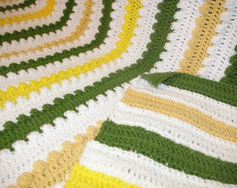 Knitted blanket or throw