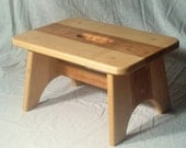 Cherry and Maple Step Stool