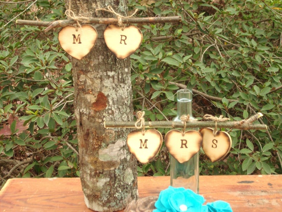 Rustic Mr and Mrs Chair Sign - Ready to Ship