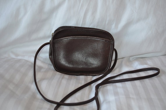 80s Chocolate Brown Leather Coach Purse