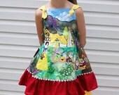 Custom Applique Disney Princess Snow White Feliz Knot dress SIze 4 5 6 7 8