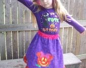 Disney Boutique feliz style halloween skirt pumpkin Minnie Mouse Custom size 4-10