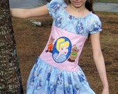 Cinderella Princess Girl Snug peasant dress Custom size 4 - 10 Beautiful