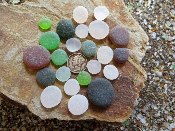 COIN or Button Beach Sea Glass 606-C-23