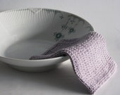 Dish cloth - wash cloth - soft knitted cotton lavender