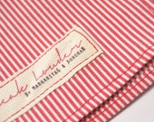 Mens Pocket Square red and white stripe- Victor Erice