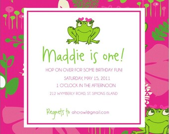Frog Birthday Invitations