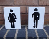 Zombie Toilet / Restroom / WC Signs (2 Canvas)