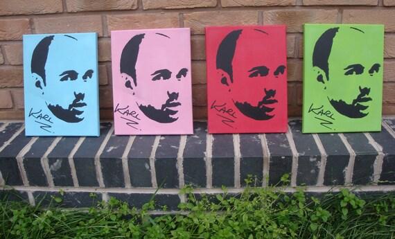 Karl Pilkington - Stencil on Canvas (Choose your colour)