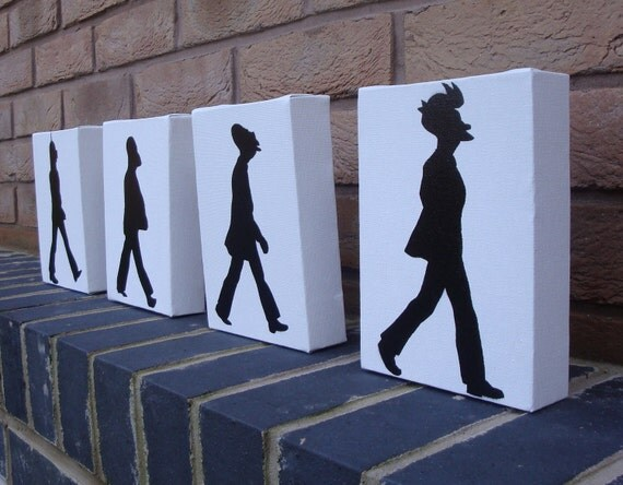 The Beatles - Futurama Abbey Road (Fry, Professor Farnsworth, Zoidberg, Bender)