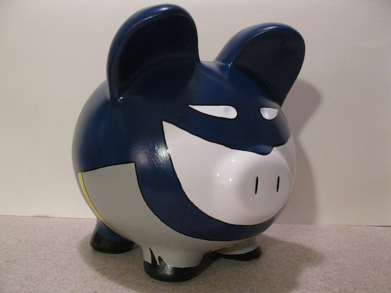 Batpig Piggy Bank - Inspired by Batman (Unofficial) - MADE TO ORDER