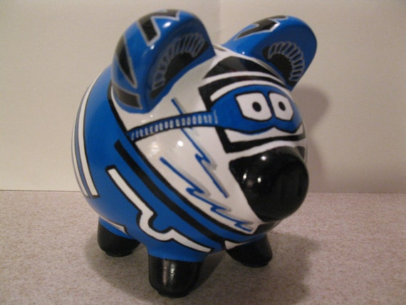 Piggy Bank - Motorcross or Dirtbike Rider - Personalized and MADE TO ORDER