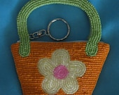 """VINTAGE FUNKY BEADED Coin Purse """"Two's Company"""""""